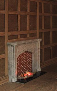 Fireplace PF8s in the panelled room, Tim Hartnall