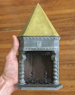 Chris Toledo has used CM7 columns to make this gothic corner fireplace