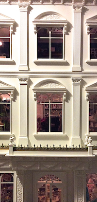 A superb Fortnum and Mason type shop front by Emma Waddell uses Pilasters PR2 and 4 and the window decoration P6 and P7 were commissioned for this peice