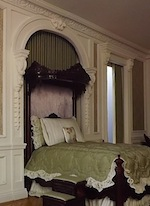 This beautiful bedroom by Giac DellAccio was made using BR18 brackets, swags and other mouldings