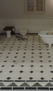 Zoe, from House of Zoe has used TOCMG and added a border to finish this fabulous bathroom floor